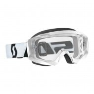OFFER SCOTT HUSTLE X MX GOGGLE 2019 COLOR WHITE / BLACK - CLEAR WORKS LENS