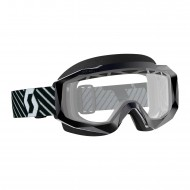 OFFER SCOTT HUSTLE X MX ENDURO GOGGLE COLOR BLACK / WHITE - CLEAR LENS