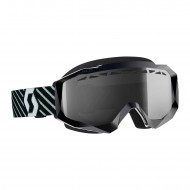 OFFER SCOTT HUSTLE X MX ENDURO LIGHT SENSITIVE GOGGLE COLOR BLACK / WHITE - LIGHT SENSITIVE GREY LENS