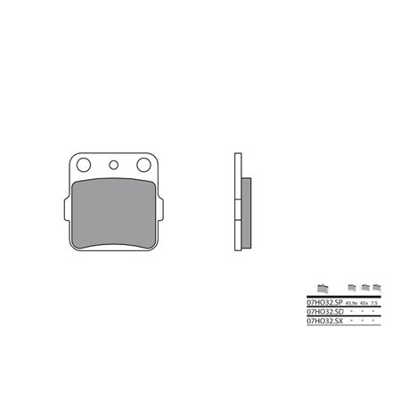 BREMBO REAR BRAKE PADS SUZUKI LT-Z400 QUADSPORT (2002-2016)