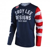CAMISETA TROY LEE GP AIR AMERICANA AZUL INFANTIL MARINO