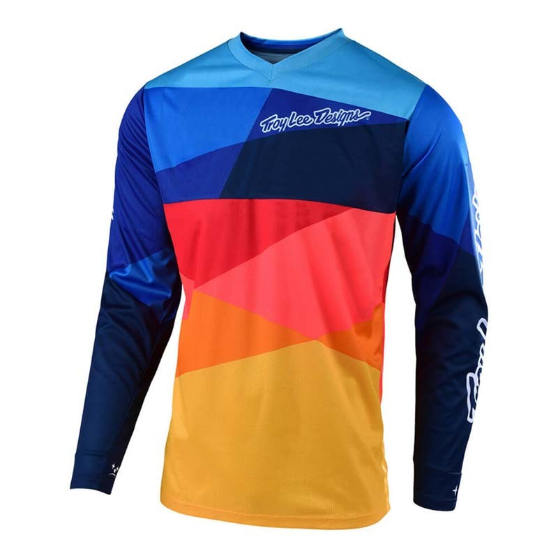 purchase cheap f20c8 7918c T-SHIRT BLUE NAVY/ORANGE YOUTH GP AIR JET TROY LEE TROY306663001 -  MotocrossCenter.com