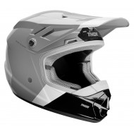 OFFER THOR YOUTH SECTOR BOMBER HELMET 2020 CHARCOAL / WHITE COLOUR