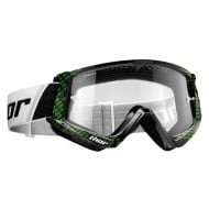THOR YOUTH COMBAT CAP GOGGLES BLACK / LIME COLOUR
