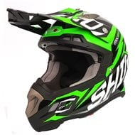 OFFER HELMET MX-917 THUNDER SHIRO GREEN FLUOR