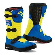 BOOTS TCX YOUTH COMP-KID ROYAL BLUE/YELLOW FLUO