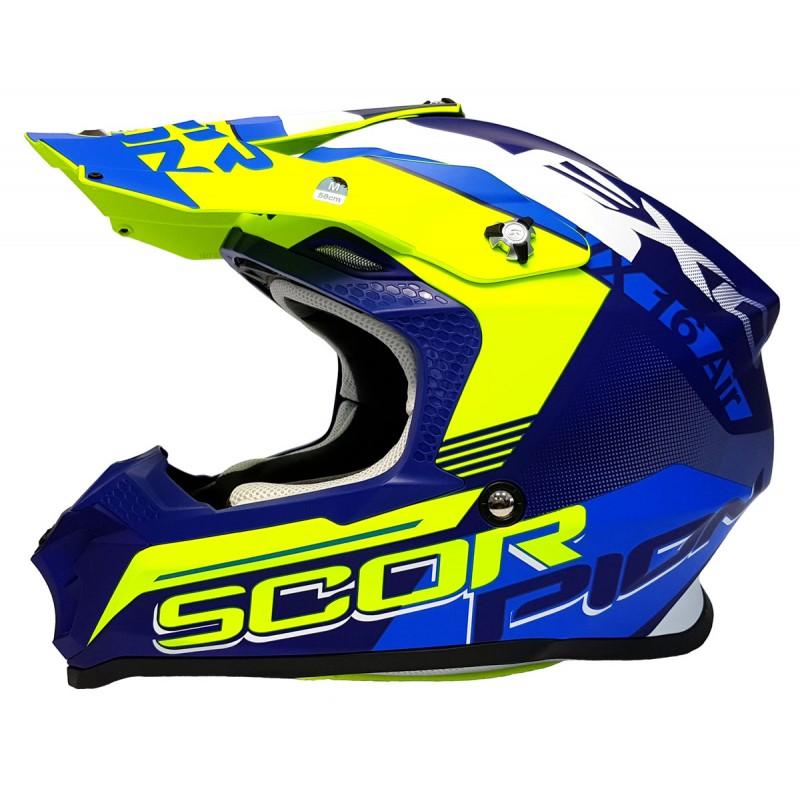 Scorpion Exo VX-16 AIR Crosshelm Arhus neongelb//neonrot 2019 Motocross MX NEU