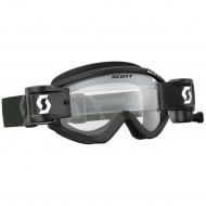 OFFER SCOTT RECOIL XI WFS GOGGLE BLACK/WHITE COLOUR - CLEAR WORKS LENS
