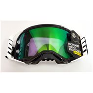 OFFER SCOTT PROSPECT GOGGLE COLOR BLACK / WHITE - GREEN CHROME WORKS LENS