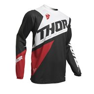 THOR YOUTH SECTOR BLADE JERSEY 2020 WHITE / AQUA COLOUR