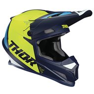 CASCO THOR SECTOR BLADE OFFROAD 2020 COLOR BLANCO / AGUA