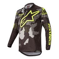 CAMISETA ALPINESTARS RACER TACTICAL 2020 COLOR NEGRO / CAMUFLAJE / AMARILLO