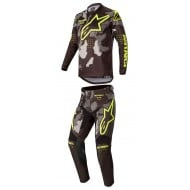 OFFER COMBO ALPINESTARS RACER TACTICAL 2020 BLACK / CAMO / YELLOW COLOUR