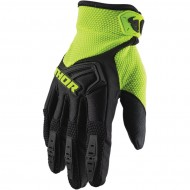 THOR YOUTH SPECTRUM GLOVES 2021 BLACK / FLUO ACID COLOUR