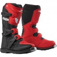 THOR YOUTH BLITZ XP BOOTS RED / BLACK COLOUR