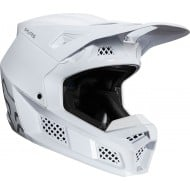 CASCO FOX V3 SOLIDS 2020 COLOR BLANCO/PLATA