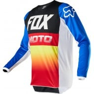 CAMISETA INFANTIL FOX 180 FYCE 2020 COLOR AZUL/ROJO