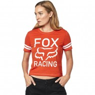 CAMISETA MUJER FOX ESTABLISHED COLOR NARANJA ATOMICO