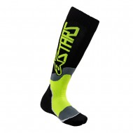 ALPINESTARS YOUTH MX PLUS-2 SOCKS 2021 BLACK / YELLOW FLUO COLOUR