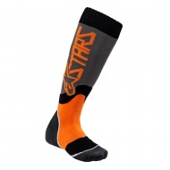 ALPINESTARS YOUTH MX PLUS-2 SOCKS 2021 COOL GRAY / ORANGE FLUO COLOUR