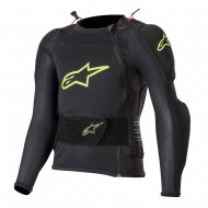 ALPINESTARS YOUTH BIONIC PLUS PROTECTION JACKET 2020 BLACK / YELLOW FLUO COLOUR