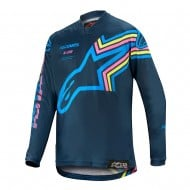 ALPINESTARS YOUTH RACER BRAAP JERSEY 2020 NAVY / AQUA / PINK FLUO COLOUR