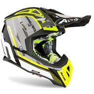AIROH AVIATOR 2.3 AMS2 GLOW HELMET 2020 CHROME YELLOW COLOUR