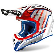CASCO AIROH AVIATOR 2.3 AMS2 GLOW 2020 COLOR CROMO ROJO