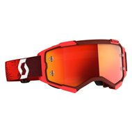 SCOTT FURY GOGGLE 2020 RED COLOUR - ORANGE CHROME WORKS LENS