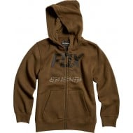 OFFER FOX YOUTH OVERDRIVE ZIP FLEECE OLIVE GREEN COLOUR