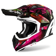 CASCO AIROH AVIATOR ACE INSANE 2020 COLOR ROSA MATE