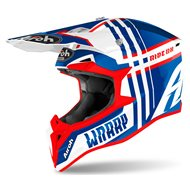 CASCO AIROH WRAAP BROKEN 2020 COLOR AZUL/ROJO BRILLO