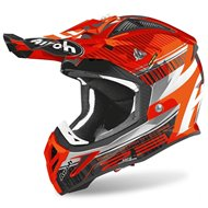 OUTLET CASCO AIROH AVIATOR 2.3 NOVAK 2020 COLOR NARANJA CROMO
