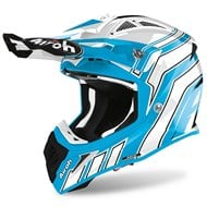 CASCO AIROH AVIATOR ACE ART 2020 COLOR AZURE BRILLO