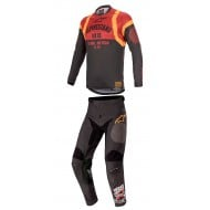 COMBO ALPINESTARS RACER TECH FLAGSHIP 2020 BLACK / BORDEAUX / ORANGE COLOUR