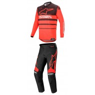 COMBO ALPINESTARS RACER SUPERMATIC 2020 COLOR NEGRO / ROJO BRILLANTE