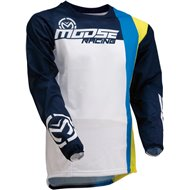 CAMISETA MOOSE SAHARA 2020 COLOR BLANCO / AMARILLO / AZUL
