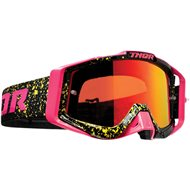 THOR SNIPER PRO SPLATTA GOGGLES 2020 FLUO PINK / BLACK COLOUR - RED LENS
