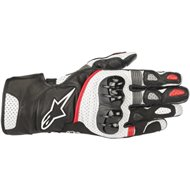 GUANTES ALPINESTARS SP-2 V2 COLOR NEGRO/BLANCO/ROJO