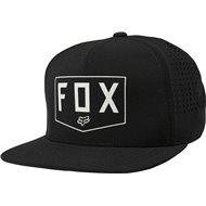FOX SHIELDED SNAPBACK HAT BLACK COLOUR