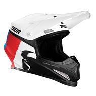 THOR SECTOR RACER HELMET 2021 WHITE / BLUE / RED COLOUR