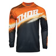 THOR YOUTH SECTOR VAPOR JERSEY 2021 ORANGE / MIDNIGHT COLOUR