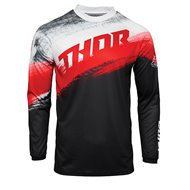 THOR YOUTH SECTOR VAPOR JERSEY 2021 RED / BLACK COLOUR