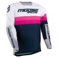 MOOSE SAHARA JERSEY 2021 NAVY / WHITE / MAGENTA COLOUR