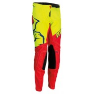 YOUTH MOOSE AGROID PANT 2021 RED / YELLOW / BLUE COLOUR