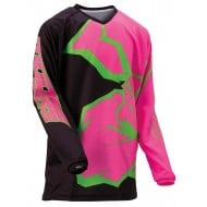 YOUTH MOOSE AGROID JERSEY 2021 BLACK / PINK / GREEN COLOUR