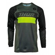 THOR PULSE RACER JERSEY 2021 MILITARY GREEN / ACID COLOUR