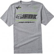 OFFER FOX YOUTH PRO CIRCUIT TEE LIGHT HEATHER GREY COLOUR