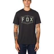 OFFER FOX CREST SHORT SLEEVE TECH TEE BLACK / GREEN COLOUR