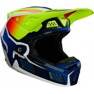FOX V3 RS WIRED HELMET ECE 2021 FLUO YELLOW COLOUR